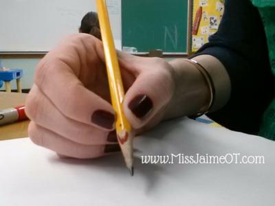pencil grip tip, pencil grip tricks, back to school