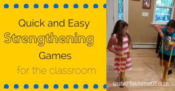 Easy Classroom Strengthening Games:Handee Band Classroom Games