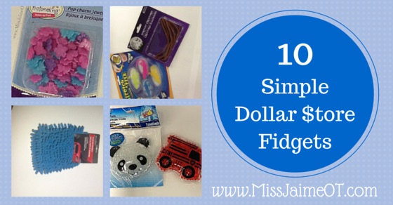 Dollar store fidgets