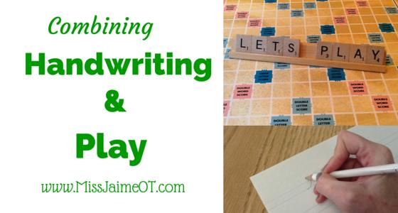 Combining Handwriting and Play