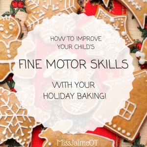 fine motor skills and baking