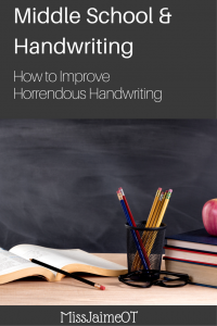 Middle School and Handwriting