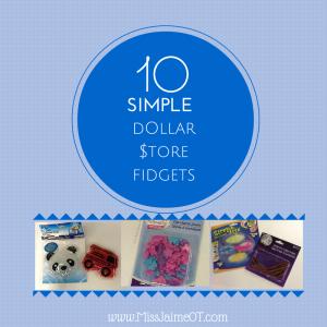 dollar store fidgets, sensory toys, therapy toys, dollar store hacks, parent tips,