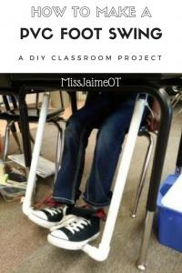 DIY Foot Swing, PVC Foot Swing, PVC Foot Fidget, Classroom Fidgets