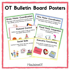 OT information, OT Bulletin Board, OT, School, Occupational Therapy, Miss Jaime OT