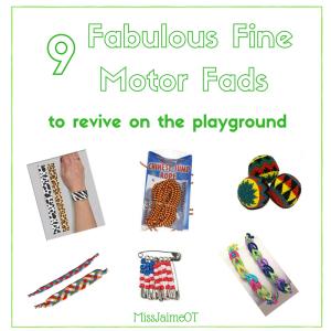 fine motor, playground, recess, fine motor hobbies, toddler, preschool, school, OT, Miss Jaime OT