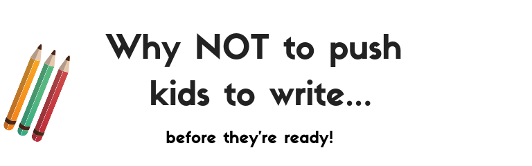 Why not to push handwriting for kids